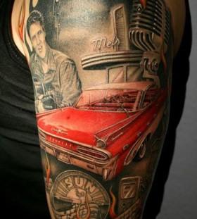 Impressive Cadilac tattoo