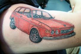Impressive car tattoo