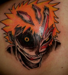 Impressive colory anime tattoo