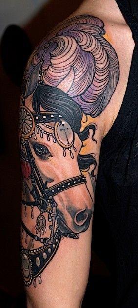 Impressive horse tattoo