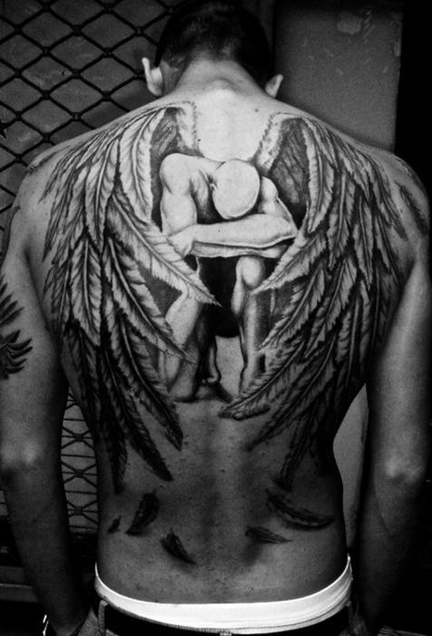 Impressive wings tattoo