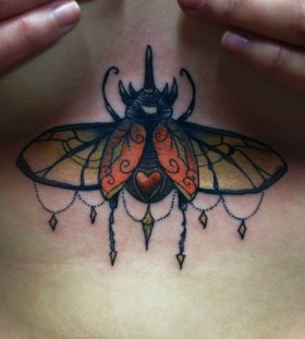 Incredible bug tattoo