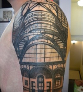 Incredible building architecture tattoos