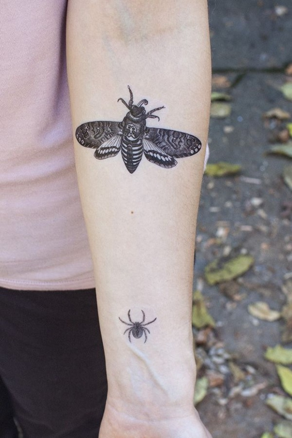 Insects halloween tatoo