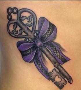 Key purple tattoo