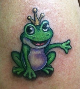 King frog tattoo