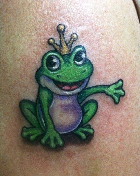 King frog tattoo