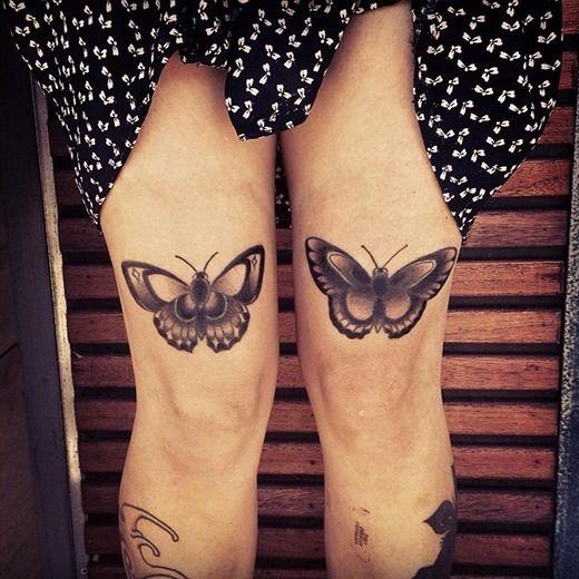 Knees bug tattoo
