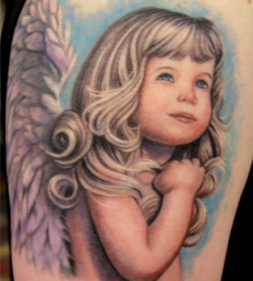 Large cut angel baby