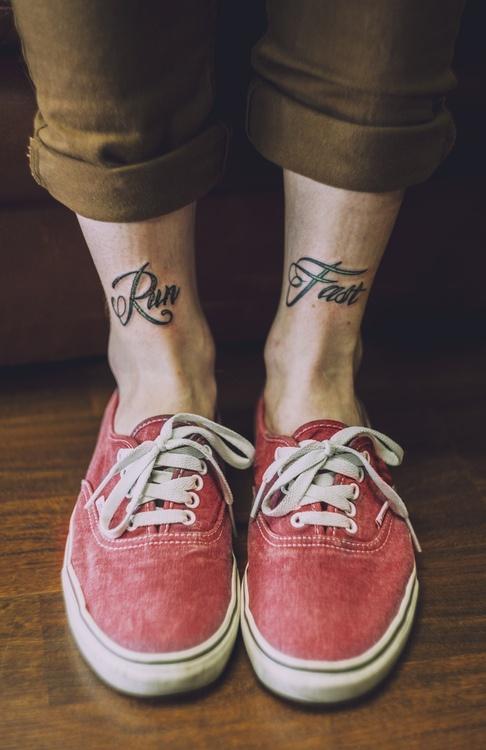 Leg man tattoo