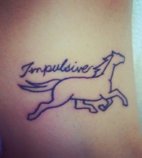 Little horse tattoo