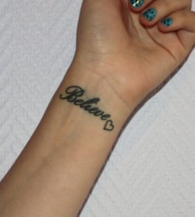 Lovely believe tattoo