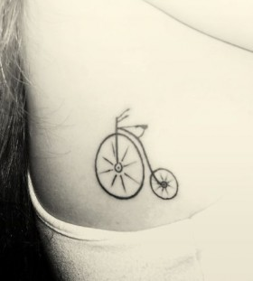 Lovely bike tattoo