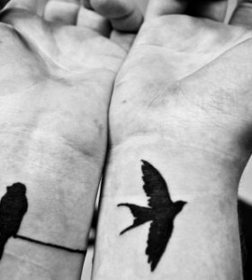 Lovely birds tattoo