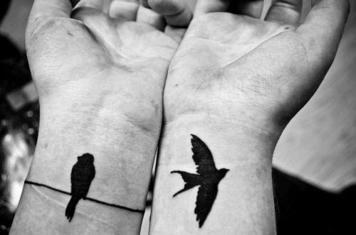 Lovely birds tattoo