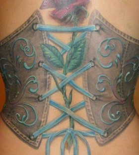 Lovely corset tattoo