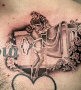 Lovely couple tattoo by Nikki Ouimette