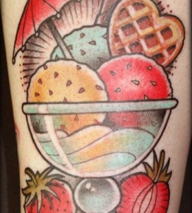 Lovely ice cream tattoo