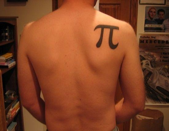 Man math tattoos