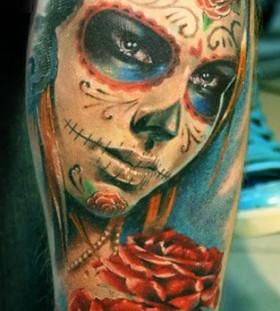 Mask tattoo by Mikky Volkova