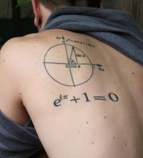 Men math tattoos