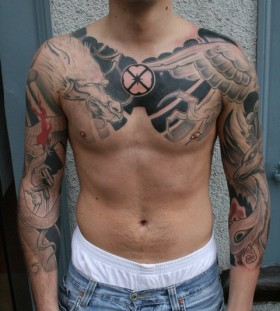 Men sleeve tattoo