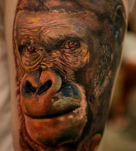 Monkey tattoo by Seunghyun JO aka Potter