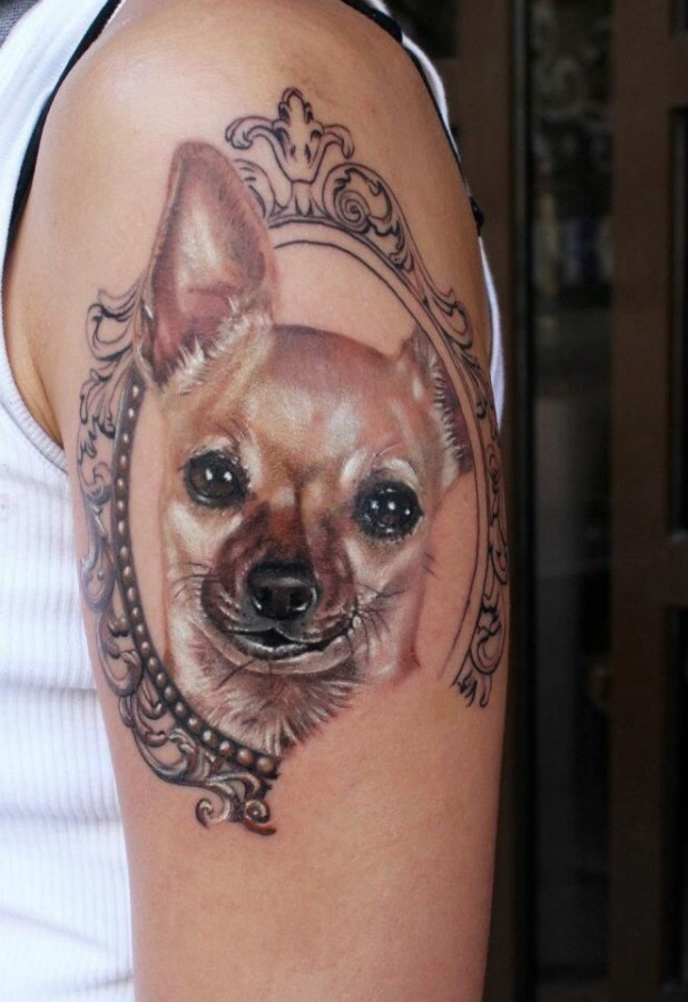 463ed6501 Nice dog portret on the hand - | TattooMagz › Tattoo Designs / Ink ...