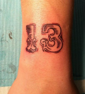 Numbers tattoo by Hania Sobieski