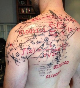 Numbers tattoo by Pietro Romano