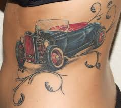 Old times black car tattoo