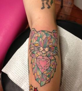 Orgami cat tattoo