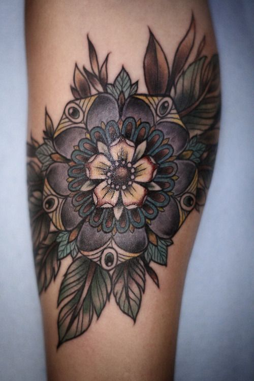 Ornaments flowers tattoo by Alice Carrier