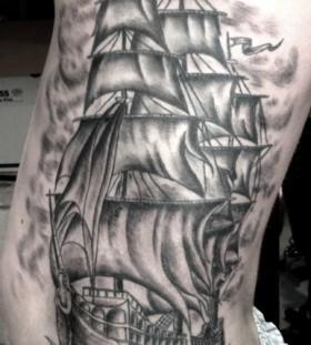 Pirates ship tattoo