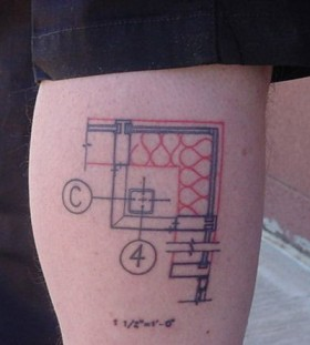 Plan architecture tattoos