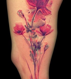 Pretty flowers by Ondrash Tattoo