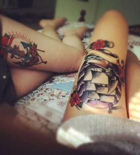 Pretty legs ship tattoo