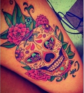 Pretty skulls tatoo