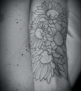 Pretty sunflower tattoo