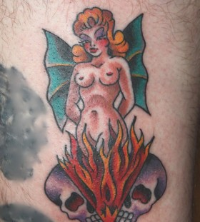 Pretty woman tattoo by Mike Schweigert