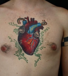 Realistic heart tattoo by Miah Waska