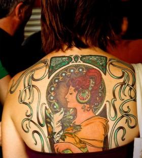 Retro style tattoo