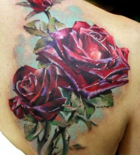 Rose tattoo by Mikky Volkova