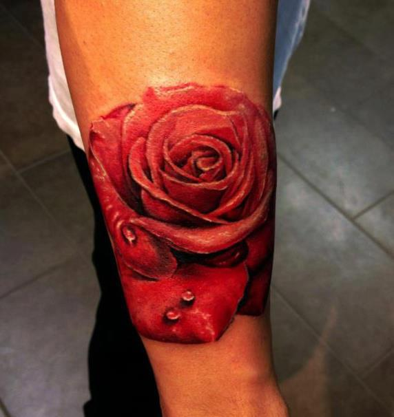 Rose tattoo by Seunghyun JO aka Potter