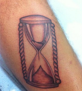 Sand clock tattoo by Nikki Ouimette
