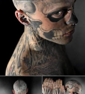 Scary man tattoo