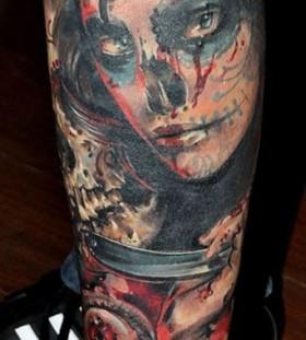 Scary tattoo by Mikky Volkova