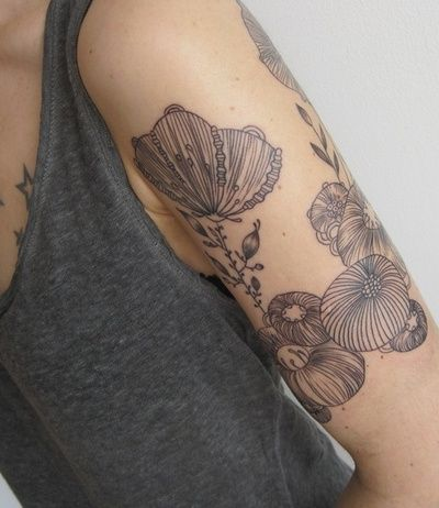 Shoulders tattoo by Alice Carrier