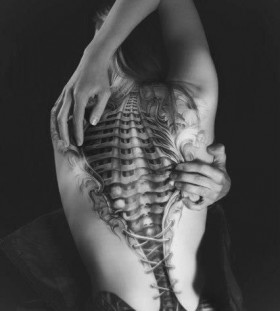 Simple corset tattoo
