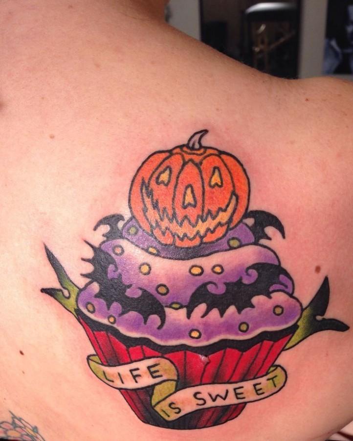 Simple halloween tatoo